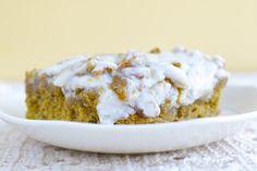 Blondie de chocolate blanco en el microondas: 5 minutos