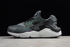 watch f0957 90319 Discount Nike Air Huarache Run Premium Dark Grey Black Mens Size 704830-007  For Sale