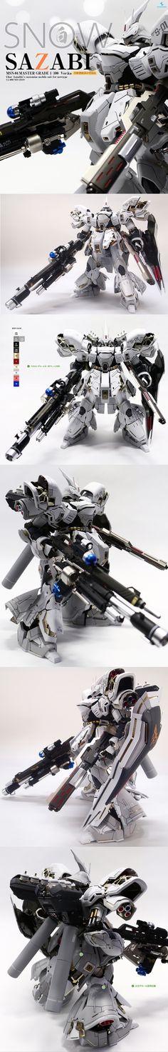 Snow Sazabi, Gundam redesign