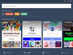 Tumblr – miniatúra snímky obrazovky