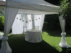 tent draped in white tafetta. Wedding Ceremony, Reception, Networking Events, Head Tables, Dc Weddings, Event Decor, Summer 2016, Furniture Decor, Event Planning