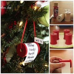 Christmas Wish List Ornaments - could do one every year for every kid so they can see what they asked for.