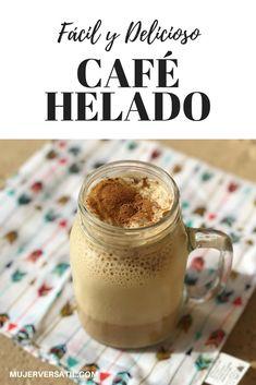 Receta: Café Helado Fácil y Delicioso + Cupón   Coffee Latte Art, Coffee Cafe, Starbucks Coffee, Coffee Drinks, Fun Drinks, Yummy Drinks, Yummy Food, Milkshake Recipes, Coffee Recipes