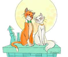 Duchess and Thomas O'Malley by Steve Thompson - The Aristocats