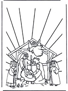 Nativity Coloring Pages | Holidays - christmas & winter | Pinterest ...
