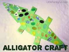 Easy Alligator Craft!