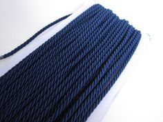 craft rope in navy blue,twist rope cord,decorative rope, braided cord, diy craft,craft supplies for bracelet nautical decor