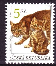"""Postage stamp designed by the Czech artists Libuše Knotková (b.1949) and Jaromír Knotek (b. 1949), who sign their joint art works as """"L. a J. Knotkovi"""" - Czech Republic, 1999"""
