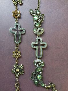 CROSS antiqued bronze Necklace by RocksOfFaith on Etsy