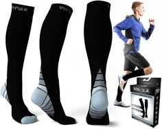Professional Compression Socks Breathable Travel Activities Fit For Nurses Shin Splints Anti Fatigue Leg Support Crew Sock Crazy Price Men's Socks