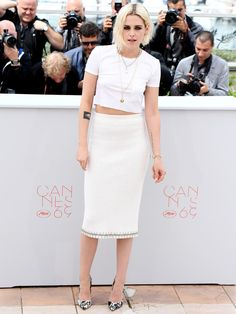 Kristen Stewart turned heads as she arrived in Cannes to promote Cafe Society.
