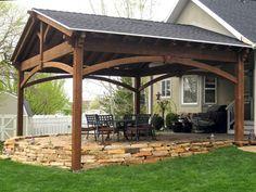 Image result for pergola deck front entry extending over garage
