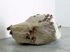 Tatiana Trouve, name: Rock date: 2007, dimension: 24 3/4 x 41 3/4 x 48 inches, (medium): Fontainebleau stone, bronze