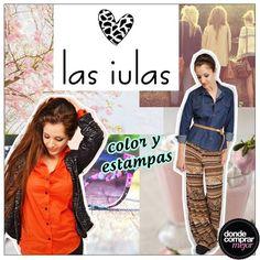 ¡Sumale mucho color y estampas a tu outfit con Las iulas! www.dondecomprarmejor.com