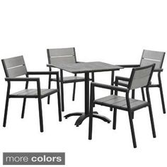 Modway Main 3-Piece Outdoor Patio Dining Set | Overstock.com Shopping - The Best Deals on Bistro Sets