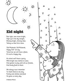Eid Poem - makes a great greeting card to share with school friends: