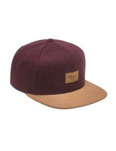 1fac38cbff8 Reell 6 panel Suede cap snapback Burgundy wool Wolle Kaufen