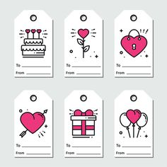 Discover thousands of Premium vectors available in AI and EPS formats Gift Tags Printable, Printable Stickers, Birthday Card Drawing, Birthday Cards, Planner Stickers, Tarjetas Diy, Mini Drawings, Diy Valentines Cards, Aesthetic Stickers