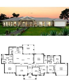 Kurmond Homes, New Home Builders Sydney. The design & building of your home is our passion, we strive for excellence with every home to maintain our quality home builders reputation. Round House Plans, Pool House Plans, House Layout Plans, Dream House Plans, House Layouts, 5 Bedroom House Plans, Family House Plans, Modern Bungalow House, Bungalow House Plans