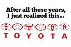 Go figure! #toyota #funny #logo
