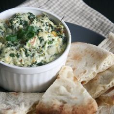 This Spinach Pesto Dip made with Greek yogurt packs protein and flavor | Michigan Agriculture