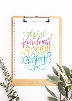 Throw Kindness Around Like Confetti FREE PRINTABLE from Hello Melly Designs