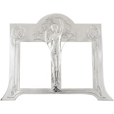 Art Nouveau silvered double photo frame with maiden by WMF, 1906 @shoprubylux #Deconamic #20thCentury