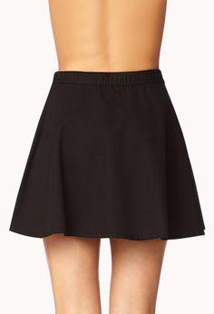 Girly Chambray Skater Skirt