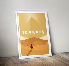 Journey Poster - Inspired by Playstation Indie Video Game – MANY SIZES on Etsy, £3.09