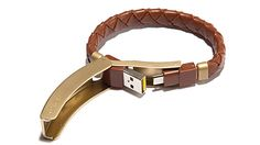 Kyte & Key Braided Leather Cabelet. Yes, hidden under the leather bracelet is a USB cable iPhone charger. Pretty cool. $70
