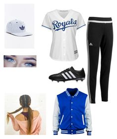 """""""softball"""" by elainia on Polyvore featuring adidas and Majestic"""