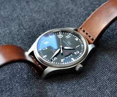 IWC-Mark-VII_17 Iwc Watches, Mens Fashion, Leather, Accessories, Style, Wristwatches, Moda Masculina, Swag, Male Fashion