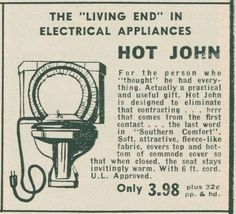 Hot John electric heated toilet seat.