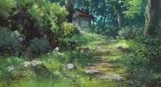 Studio Ghibli Background, Animation Background, Forest Wallpaper, Wallpaper Pc, Totoro, Studios, Studio Ghibli Art, Colossal Art, Hayao Miyazaki