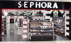 Sephora retail store visual merchandising direction: headers, fixtures, windows, signage and graphics Creative Director: Jacki Puzik