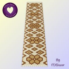 Honeycomb - Peyote Stitch Beading Pattern bracelet PDF bp97
