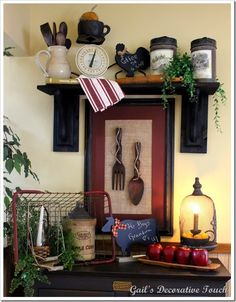 Country Kitchen Decor.