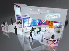 Donstroy on Behance Exhibition Stall Design, Exhibition Display, Exhibition Stands, Exhibit Design, Exhibition Ideas, Expo Stand, Art Stand, 2017 Design, Stand Design