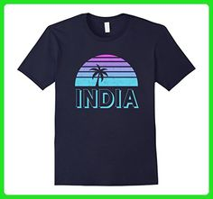 Mens India Vintage Retro T-Shirt 70s Throwback 3XL Navy - Retro shirts (*Amazon Partner-Link)