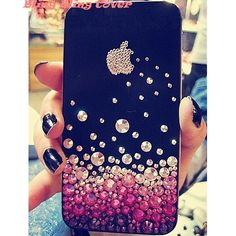 Apple iPhone 5 case Crystal iPhone 4 case Unique iPhone case cover Beautiful iPhone 4 case Bling Bling iPhone cases Swarovski crystals Skin on Etsy, $18.99