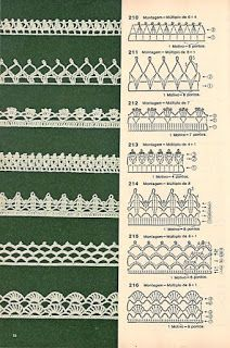 These free crochet tips are always helpful to use in dish towels, napkins or even in swaddling babies or crochet fronhas. Tina s handicraft 128 designs patterns for trimmings 121 Models of Nozzles and Barred in Crochet for you Crochet Border Patterns, Crochet Lace Edging, Crochet Diagram, Crochet Chart, Crochet Designs, Crochet Doilies, Crochet Flowers, Crochet Stitches, Crochet Mandala
