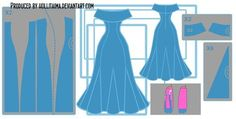 PB 'go with me' cosplay dress design draft by Hollitaima.deviantart.com on @DeviantArt