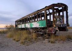 The old train car is gone now, but luckily I was able to get a few shots of it before it was hauled off.