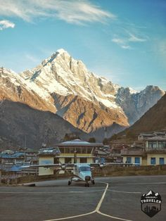 A small flight just arrived at Lukla Airport in Nepal, often said to be the most dangerous ariport in the world. Lukla, nepal, airport