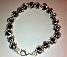 Black & Silver Melanoma Awareness Bracelet
