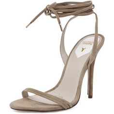 Windsor Smith Crystal Sand ($90) ❤ liked on Polyvore featuring shoes, platform shoes, sand shoes, wrap around shoes, crystal platform shoes and high heel stilettos