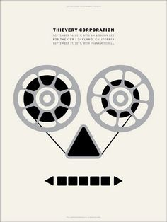 Thievery Corporation concert poster by Dirk Fowler - Poster Cabaret