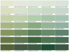 Sherwin Williams Sw6427 Sprout Sw6428 Honeydew Sw6429 Baize Green Sw6430 Great Sw6431 Leapfrog Sw6432 Garden Sage Paintgreen Paint Colorspaint