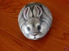Image result for rock painting rabbit
