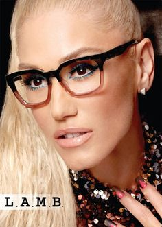 Gwen Stefani Is Making Glasses a Must-Have Accessory - Gwen Stefani Talks New Eyewear Collection Gwen Stefani, Cute Glasses, New Glasses, Funky Glasses, Glasses Style, Eyeglasses For Women, Sunglasses Women, Womens Glasses Frames, Ladies Glasses
